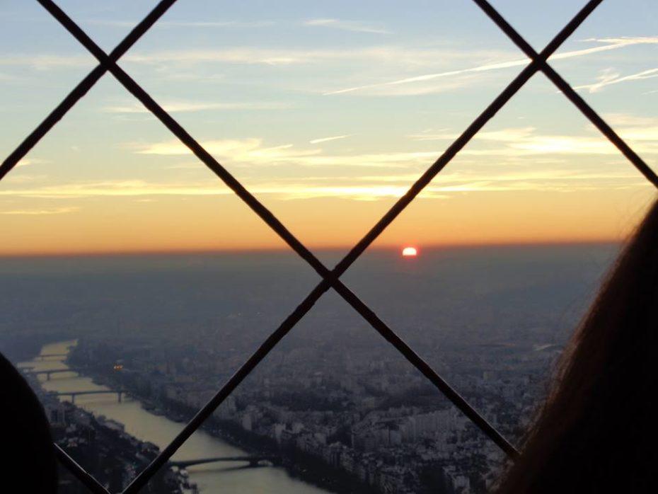 Foto del río Siena desde la Torre Eiffel.