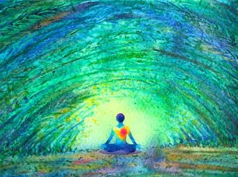 ser de luz meditando